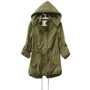 Women Winter Warm Army Green Military Parka Trench Hooded Coat Jacketliilgal-liilgal