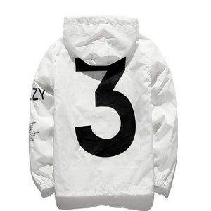 Spring and Autumn Men's Fashion Casual Jacket White and Black S-XXL Jacketliilgal-liilgal