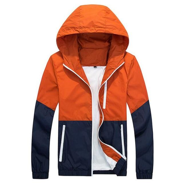 2018 Thin Hoodie Jacket Men Windbreaker Spring Autumn Mens Jackets Hooded Casualliilgal-liilgal
