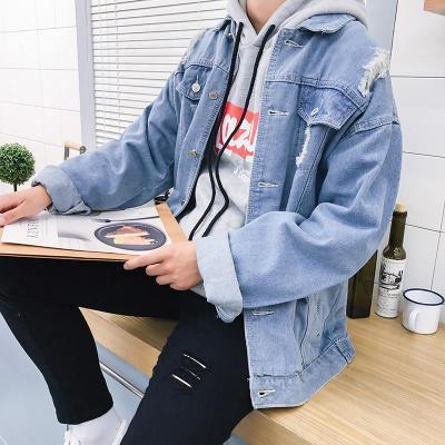 XT1473-A1404 Korean version 2018 new men hole loose and handsome students styleliilgal-liilgal