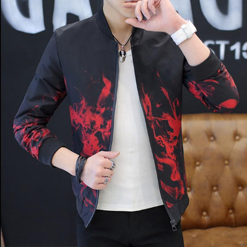 2018 Spring Autumn Casual Solid Fashion Slim Bomber Jacket Men Overcoat Newliilgal-liilgal