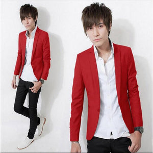 Hot Sale 2018 New Fashion Men's Casual Blazer One Button Blazer Dressliilgal-liilgal