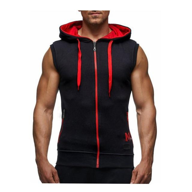 Men Hooded Waistcoat 2018 Fashion Brand Male Sleeveless Jacket Zipper Pocket Giletliilgal-liilgal