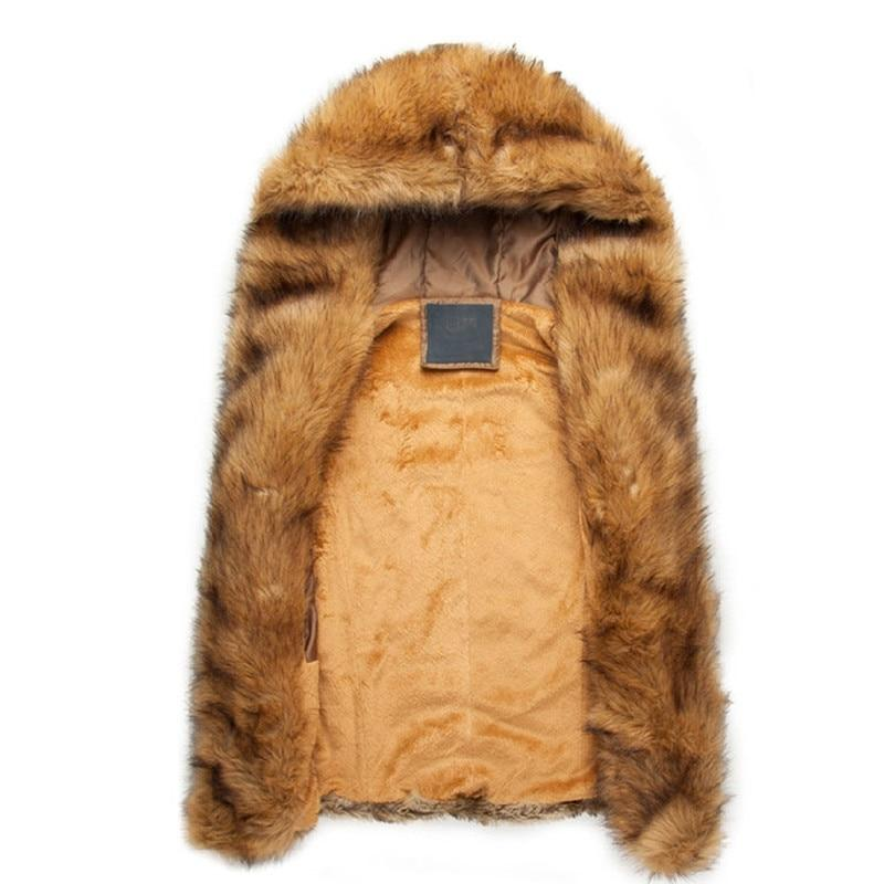 2018 New Fashion Winter Men Males Fur Vest Hoodie Hooded Thick Furliilgal-liilgal