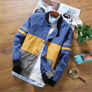 Spring and Autumn new black yellow orange blue men's Korean color fightliilgal-liilgal