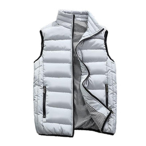 Vest Men Fashion Stand Collar Men's Sleeveless Outwear Jackets Casual Slim Cottonliilgal-liilgal
