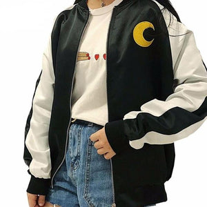 2018Japanese Soft Sister Preppy Style Sailor Moon Cartoon Embroidery Coats Harajuku BFliilgal-liilgal