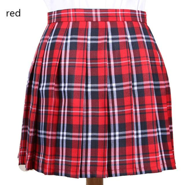 XS-3XL Harajuku 2018 Women Fashion Summer high waist pleated skirt Wind Cosplayliilgal-liilgal