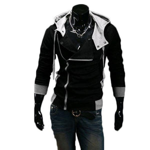 Men Zip Up Hooded Sweatshirt Slim Fit Autumn Coat Tops Warm Outwearliilgal-liilgal