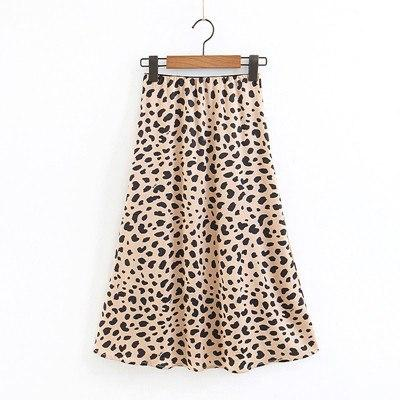 Women Clothing Chiff Skirts European American Style Fashion Sexy Brown Leopard Wildliilgal-liilgal