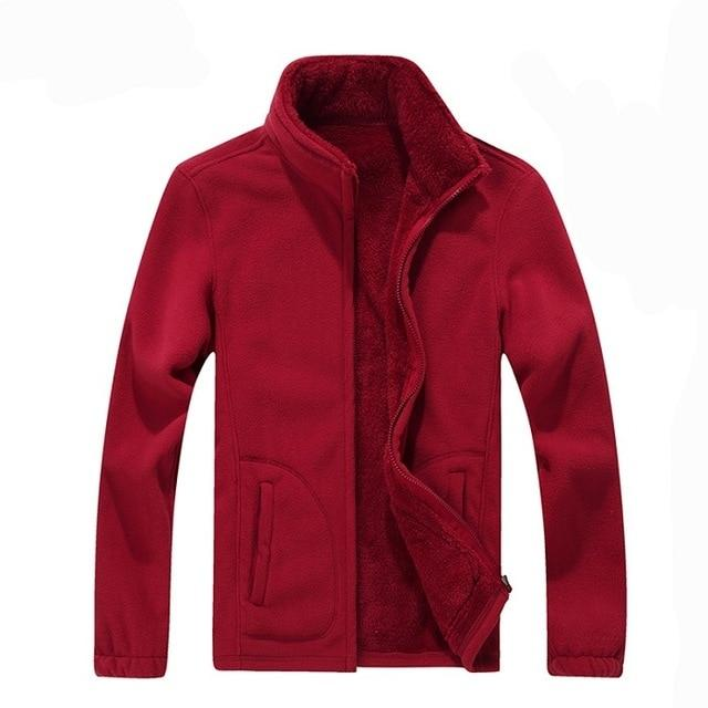 7XL 8XL Mens Softshell Fleece Casual Jackets Men Winter Warm Sweatshirt Woolenliilgal-liilgal