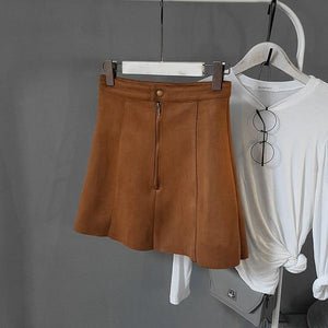 Winter Pencil Skirts Office Lady School Women Leather Skirts High Waist A-Lineliilgal-liilgal