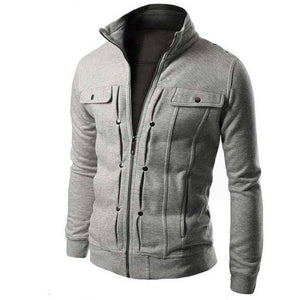 Fashion Men Jacket Spring Autumn Pocket Solid brushed Coat Jackets Mens Standliilgal-liilgal