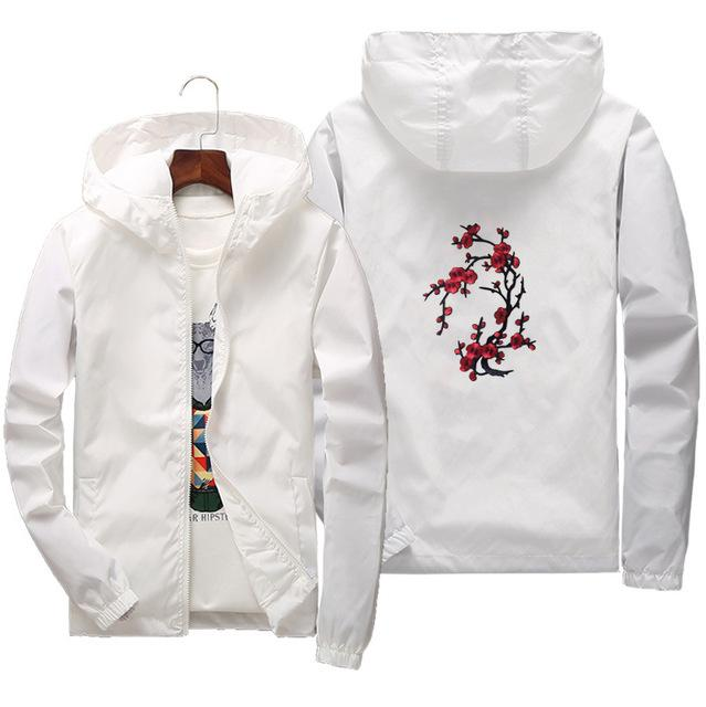 2018 Jacket men Embroidery White Black Men Women Rose Printing Jacketsliilgal-liilgal