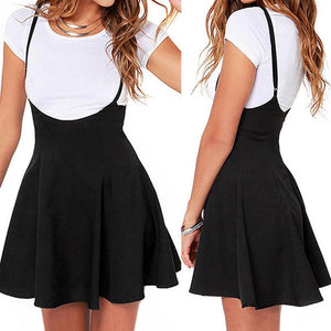 Summer Fashion Women Ladies Mini Skirt Preppy Style High Waist Pure Colorliilgal-liilgal