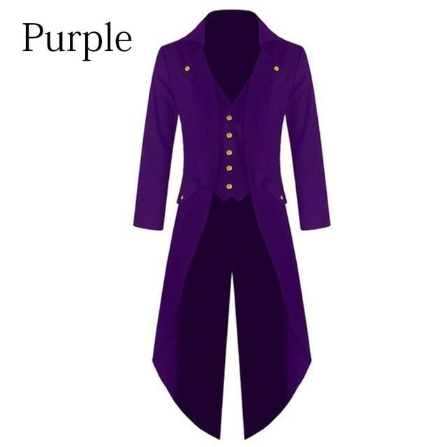 Medieval Costumes Halloween Cosplay Clothing for Men Tuxedo Long Uniform Dress Renaissanceliilgal-liilgal