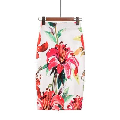 New Style Lady Skirt Long Floral Printed Boho Skirts Womens Elegant Casualliilgal-liilgal