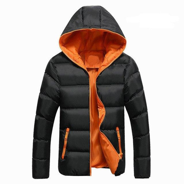 2018 New Autumn Winter Jacket Men Casual Slim Fit Hooded Parka Menliilgal-liilgal