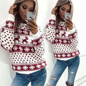 Autumn Winter Warm Women Hoodies Merry Christmas Printing Full Sleeve Sweatshirts Topsliilgal-liilgal