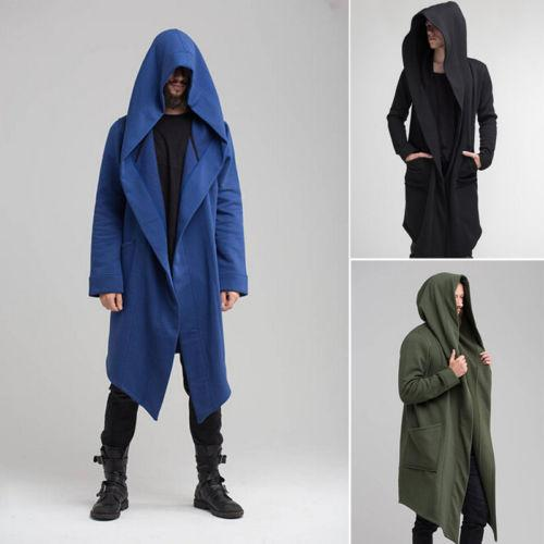 New Winter Autumn Solid Long Trench Coat Men Fashion Coat Long Sleeveliilgal-liilgal