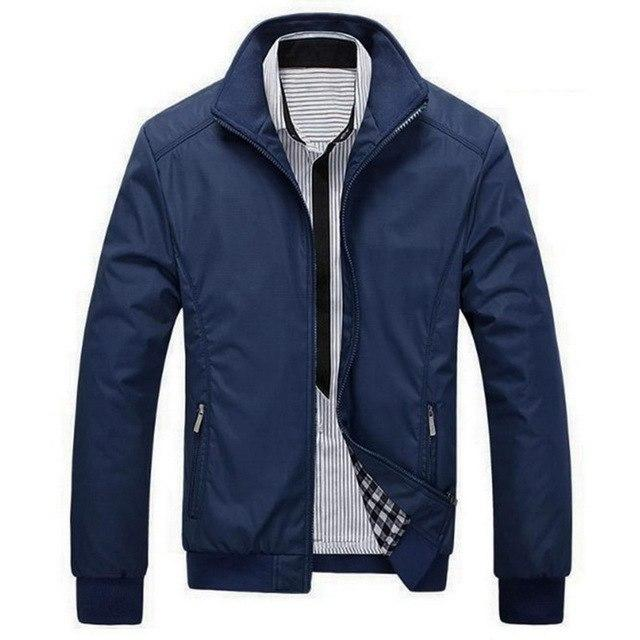 VERTVIE 2018 Autumn New Solid Color Jacket Men Casual Business Outerwear Maleliilgal-liilgal
