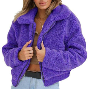 New Faux Fur Coats Jacket Women Fluffy Plus Size S-3XL Winter Shaggyliilgal-liilgal