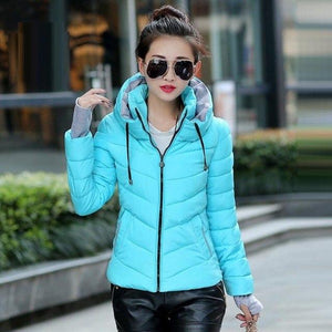 2018 New Autumn Winter Women Basic Jacket Winter Coat Female Slim Hoodedliilgal-liilgal
