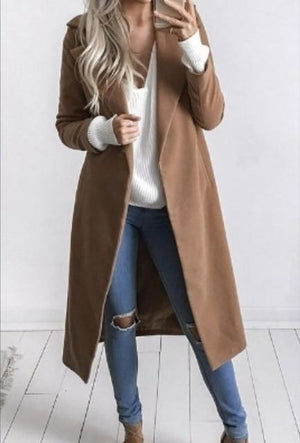 2018 Winter Woman Loose Coat Female long Thick Jacket double-faced woolen windbreakerliilgal-liilgal