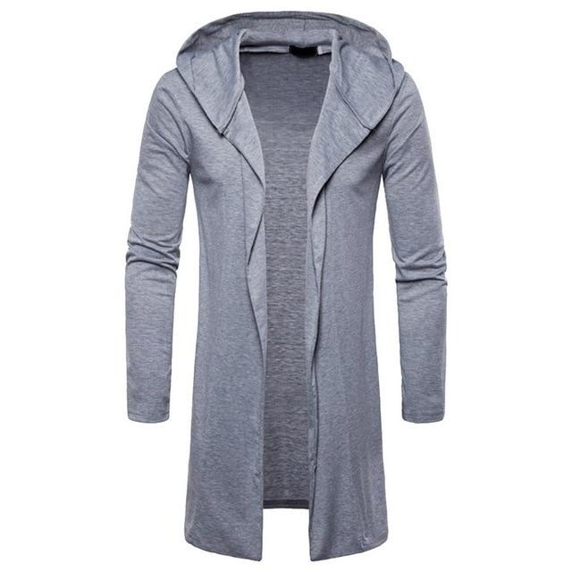 2018 Brand New Men Trench Coat Spring Autumn Solid Fashion Longliilgal-liilgal