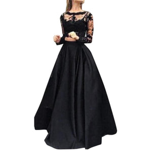 Skirts Womens Black Big swing skirt Long Maxi Skirt Lace Blouse Setliilgal-liilgal
