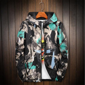 Men's Coat Printing Hooded Jacket Double jacket Plus Size S- 6XL 7XLliilgal-liilgal