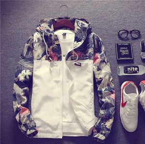 Bomber Floral Jacket Mens Hooded Jackets Slim Fit Long Sleeve Homme baseballliilgal-liilgal