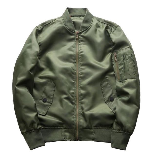 Military Style Male Bomber Jacket Flight Pilot Jackets Fashion Men 4XLliilgal-liilgal