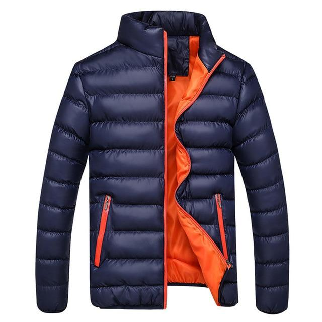Parkas 2018 Winter Jacket Warm jackets Coat Men WinterLeisure Zipper Pocket Downliilgal-liilgal