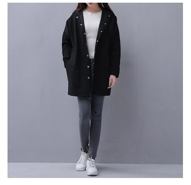 Spring Autumn Women Casual Lace up Long sleeve Hooded Windbreaker Female Pocketliilgal-liilgal