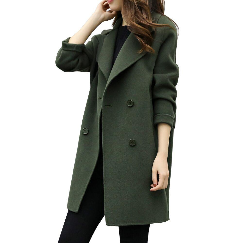 Womens Autumn Winter Jacket Casual Outwear Parka Cardigan Slim Coat Overcoatliilgal-liilgal