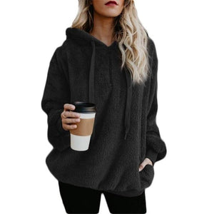 Large Size Women's Jacket Solid Color Piecing Long-Sleeved Hooded Pullover Sweatshirtliilgal-liilgal