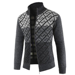 Jacket Men Autumn Winter Solid Zipper Outerwear liilgal-liilgal