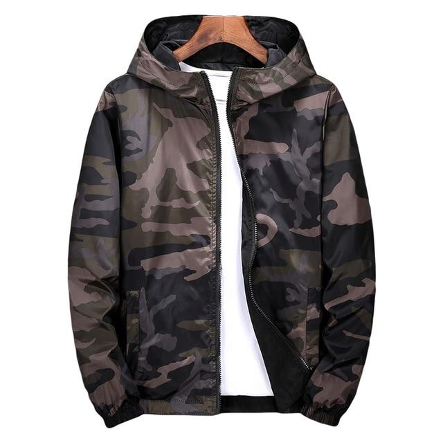 Windbreaker Jackets Men 2018 Military Camouflage Mens Hooded Jackets Coats Both Sideliilgal-liilgal