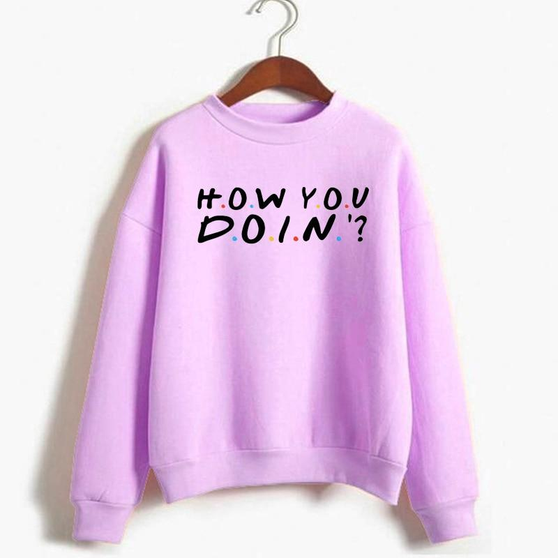 Friends TV Show How You Doin Sweatshirt Women Casual Pullover Funny Hoodiesliilgal-liilgal