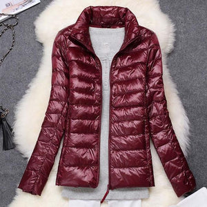 Winter Women Jacket White Duck Down Jacket Women Autumn Slim Warm Coatliilgal-liilgal