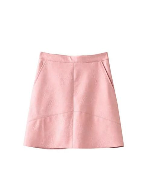 2017 PU Leather Autumn Winter New High Waist PU faux leather womenliilgal-liilgal