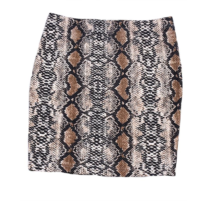 Women ladies summer hot fashion high waisted bodycon mini skirts zipper snakeliilgal-liilgal