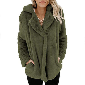 Fleece Jacket Coat Women Female Warm Cotton Cardigan Veste Femme Longliilgal-liilgal
