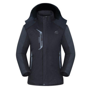 Men's Waterproof Parkas Wind-resistant Thicken Winter hooded Jacket Coats Male Fleece warmliilgal-liilgal