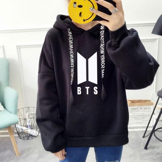 New Fashion Harajuku Kawaii Tops BTS Hoodie Bangtan Boys Kpop Clothes Womenliilgal-liilgal