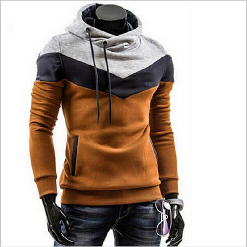 2018 New Autumn Winter Men's Slim Thicker Hooded Pullover Sweatshirts Mixed Colorsliilgal-liilgal