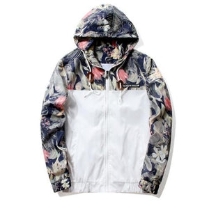 2018Floral Bomber Jacket Men Hip Hop Slim Fit Flowers Pilot Bomber Jacketliilgal-liilgal