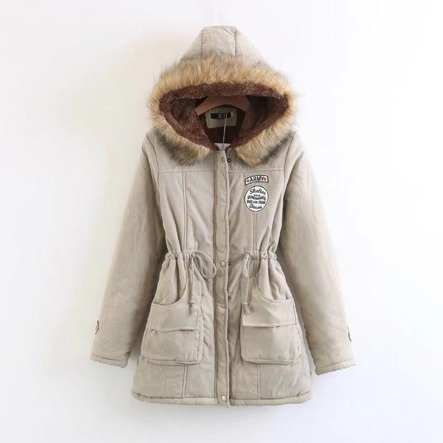 2018 New Parkas Female Women Winter Hooded Coat Thickening Cotton Winterliilgal-liilgal