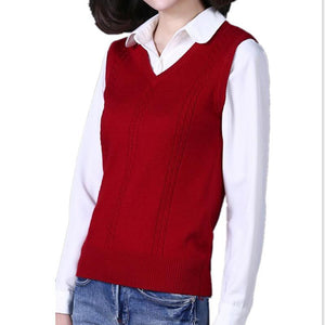Autumn and winter new cashmere vest women V neck knitted sweater clothingliilgal-liilgal
